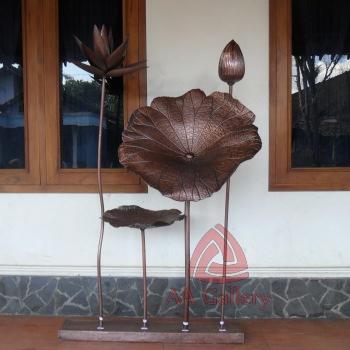 ArtWork Daun Bunga Tembaga | Kerajinan Artwork Daun Tembaga